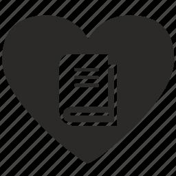 book, ebook, love, loving, reading icon