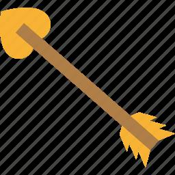 arrow, love, romance, romantic icon