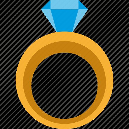 diamond, gem, jewel, jewelry, ring, wedding icon
