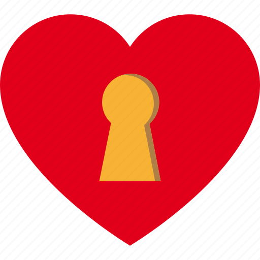 day, heart, key, keyhole, love, romance, romantic icon
