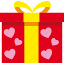 gift, love, present, romantic, valentine icon