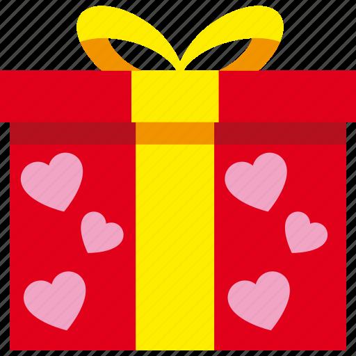 gift, love, present, romantic, valentine icon