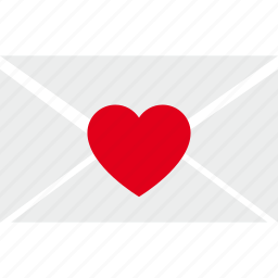 envelope, letter, love, mail, post, romantic icon