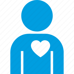 heart, in, love, man, people, valentine icon
