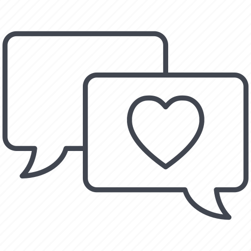 chat, cloud, love, love message, lovely, valentine, valentine's day icon
