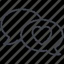 chat, love, love message, lovely, valentine, valentine's day icon