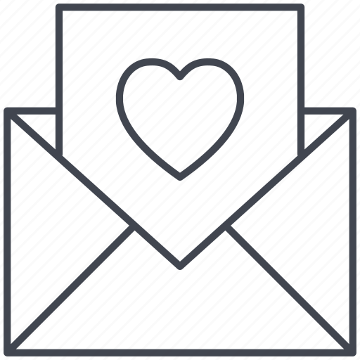 love, love letter, lovely, valentine, valentine's day icon