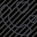 love, love message, lovely, telephone, valentine, valentine's day icon