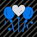 bloone, heart, love, wedding icon