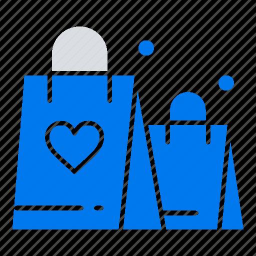 handbag, heart, love, wedding icon