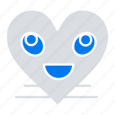 emoji, face, heart, smile, smiley icon