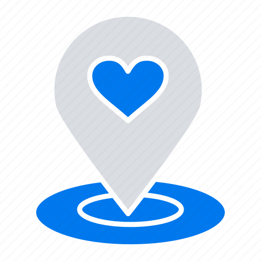 finder, heart, location, map, pin icon