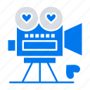 camera, love, movie, valentine, video icon