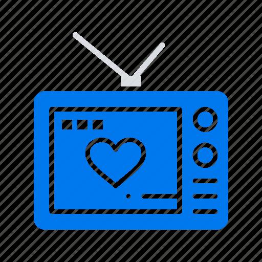 love, movie, television, valentine icon