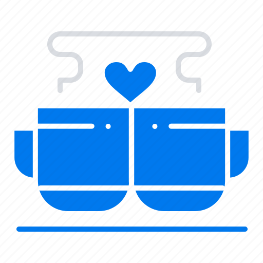 Coffee, cup, heart, love, valentine icon - Download on Iconfinder