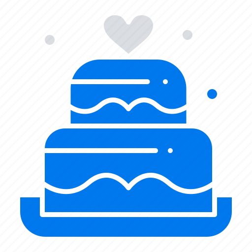 Cake, heart, love, wedding icon - Download on Iconfinder