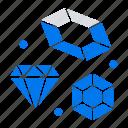 diamond, heart, love, wedding icon