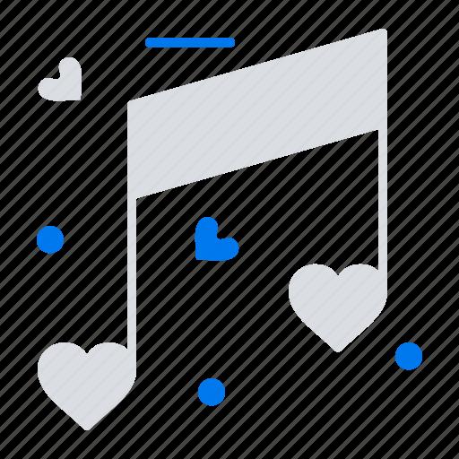 heart, love, music, wedding icon