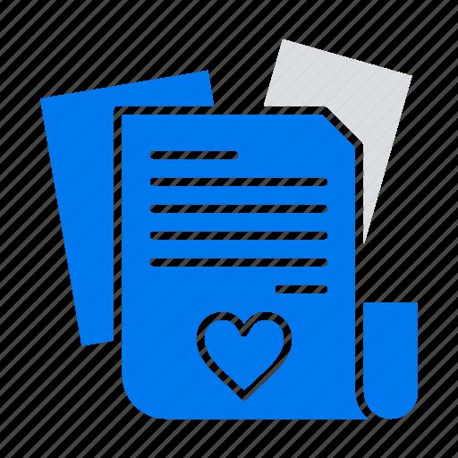 file, heart, love, wedding icon