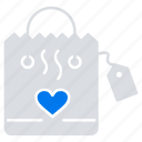 hangbag, heart, love, wedding icon