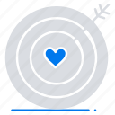 heart, love, target, wedding