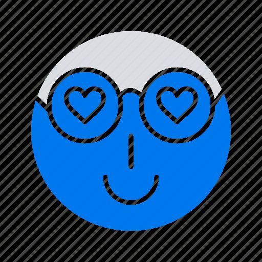 cute, emoji, love, smiley, user icon
