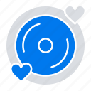 disk, heart, love, wedding