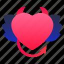 demon, devil, heart, love