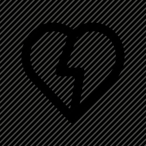 breakup, broke, favorite, heart, love icon