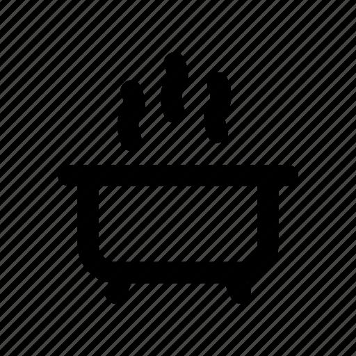 bath, bathroom, hot, tub, water icon