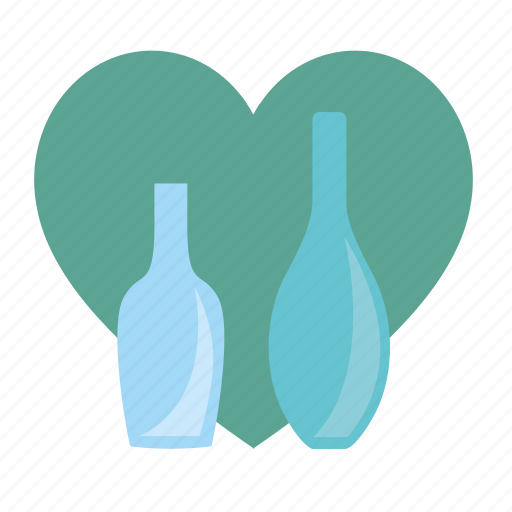 alcohol, bottle, drink, glass, heart, love icon