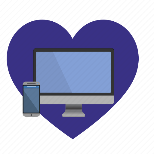 hear, iphone, love, mac, monitor icon
