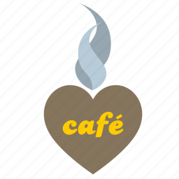 cafe, heart, love, place, romantic icon