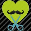 barber, heart, love, romantic, shop, style