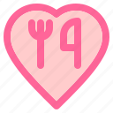 heart, love, relationship, romance, romantic, romantic dinner, valentine icon