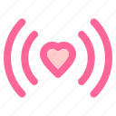 heart, love, relationship, romance, signal, valentine icon