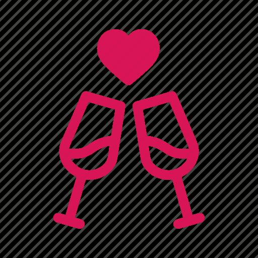 date, day, drinks, love, romance, valentine, wedding icon