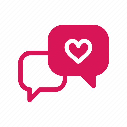 Bubble, chat, heart, love, message, talk, valentine icon - Download on Iconfinder
