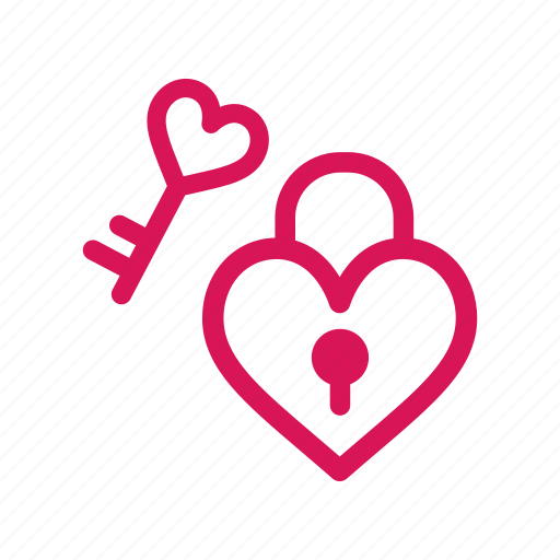 Heart, key, lock, love, romance, valentine icon - Download on Iconfinder