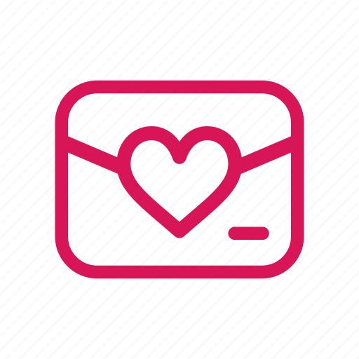 email, heart, letter, love, mail, valentine, wedding icon