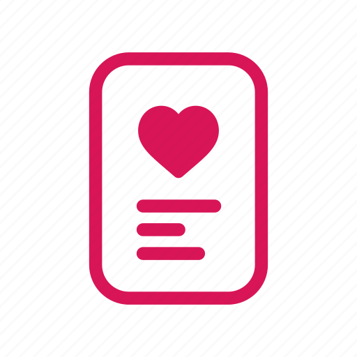card, love, romance, romantic, valentine, valentines, wedding icon