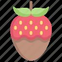 chocolate, honeymoon, love, relationship, romance, strawberries, valentine's day icon