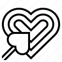 arrow, focus, heart, like, love, shape, tarket icon