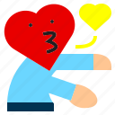 character, couple, happy, heart, hug, kiss, love icon