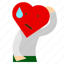 character, confuse, decide, depress, heart, like, love icon