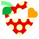 box, heart, like, locked, love, open, strawberry icon