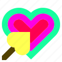 arrow, focus, heart, like, love, shape, tarket icon