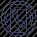 mute, no, phonecall, smartphone icon
