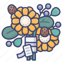 bouquet, floral, flower, holiday