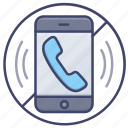 mute, no, phonecall, smartphone icon